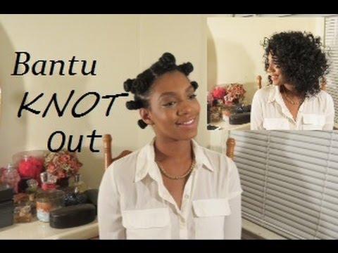 Bantu Knot On Wet Natural Hair