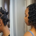 Two Strand Twists Bantu Knot Out