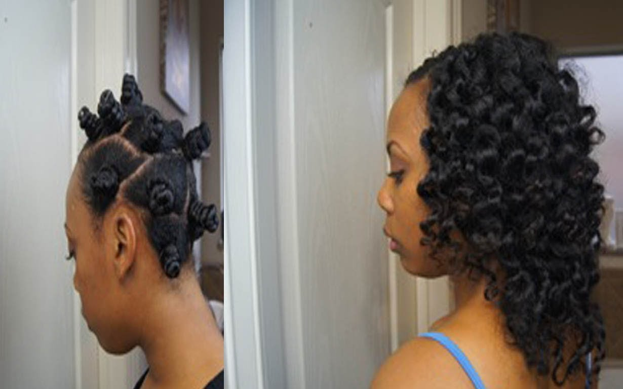 Two Strand Twists Bantu Knot Out On Natural Hair Video Tutorial ...