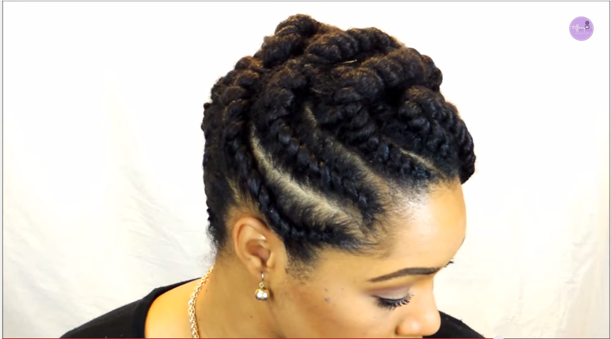 Protective Styles For Natural Hair: Fun And Elegan Flat Twist Protective Style