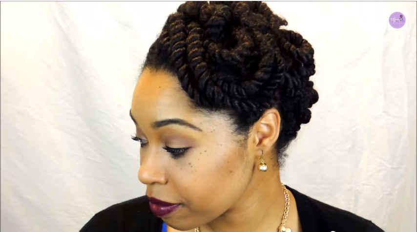 Natural Hair Protective Styles Installing Yarn Braids