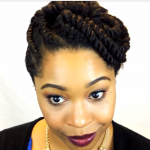 black hair flat twist styles