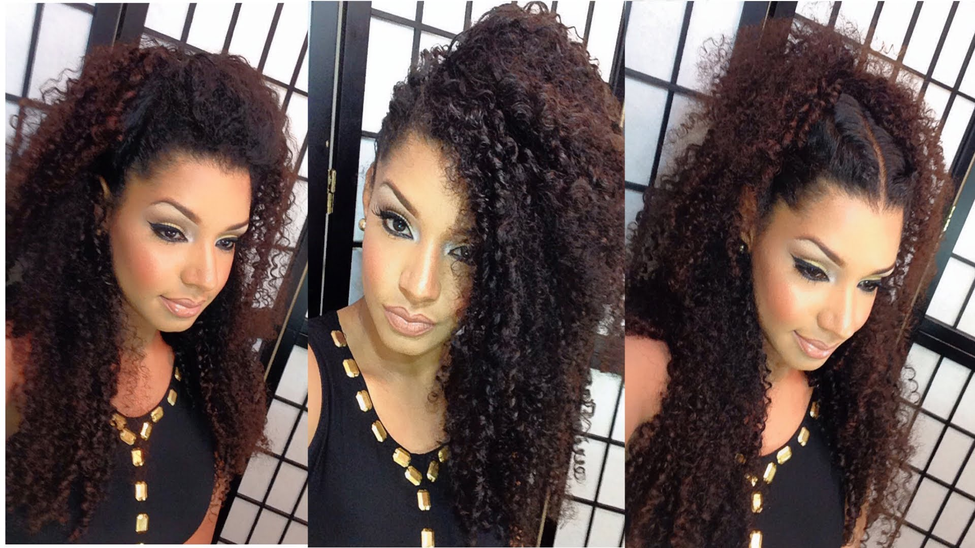 4 Fancy Christmas Hairstyle Ideas For Long Curly Hair