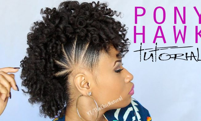 Fun Pony Hawk Curly Natural Hairstyle Video Tutorial