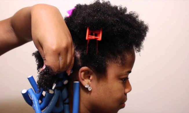 Twisted Natural Style For Black Hair Using Flexi Rod