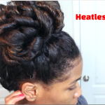 Easy Heatless Natural Hairstyle