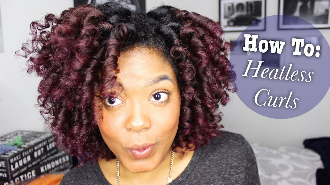 how to get heatless straw curls