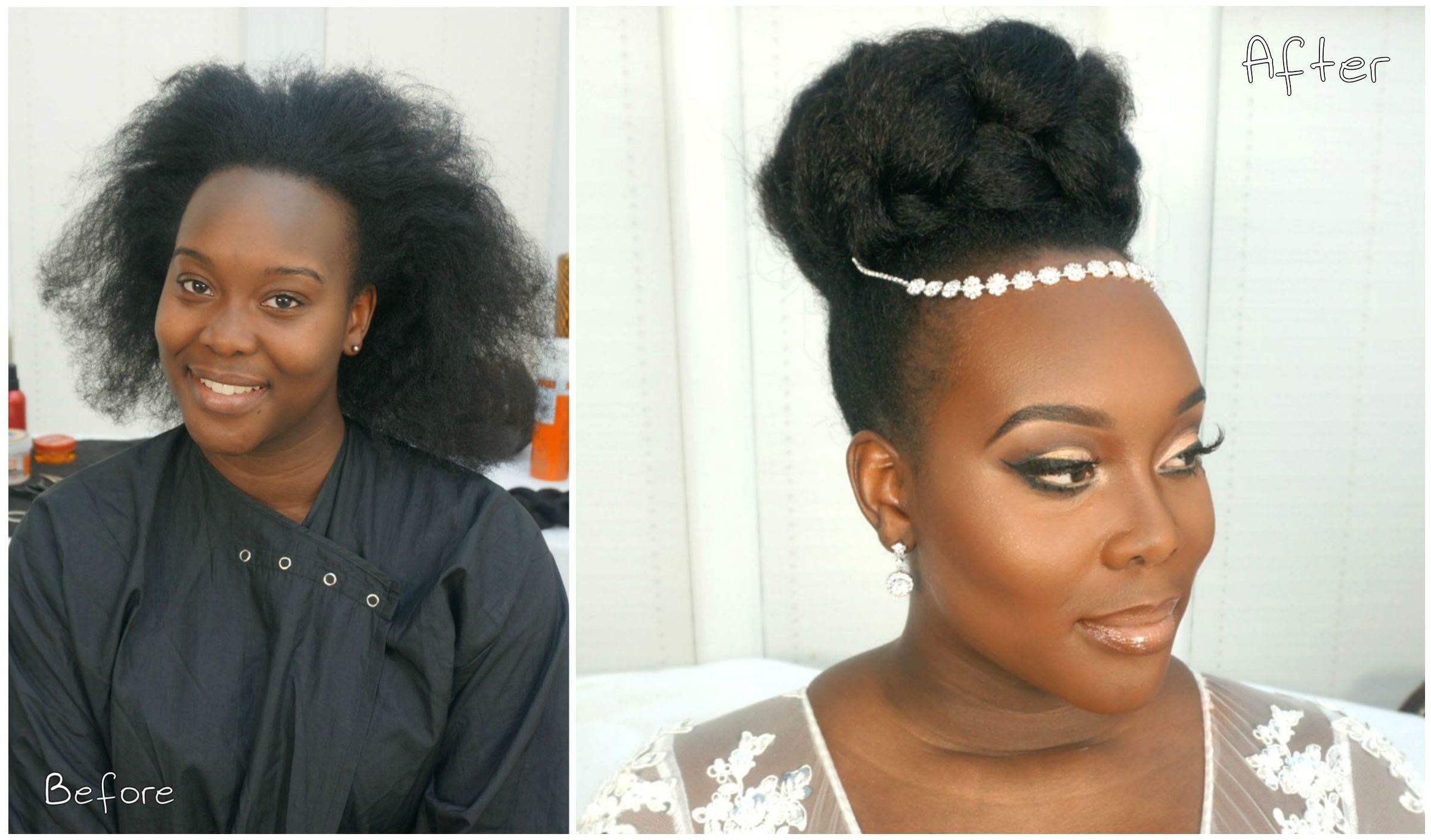 This Gorgeous Bridal Natural Hairstyle Video Tutorial Is ...
