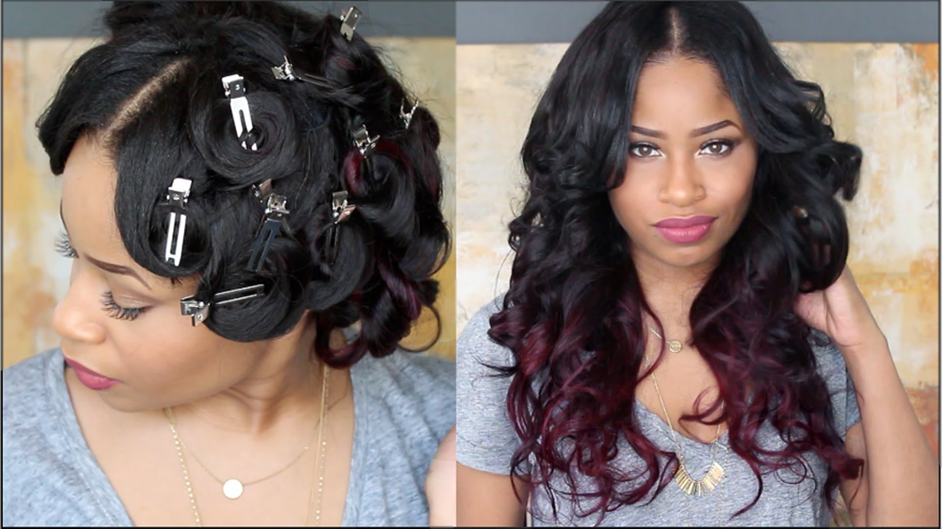 Pin Curl Long Hair Extension