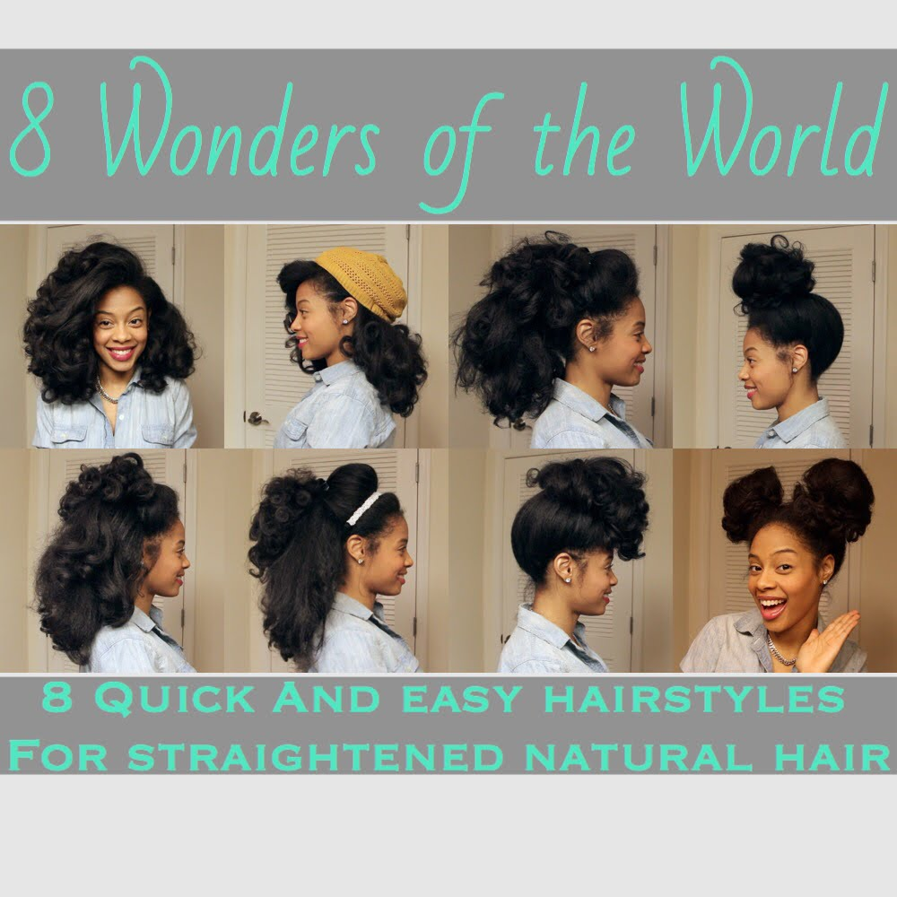 8 Everyday Inspiring Natural Hairstyles For Straight Black Hair