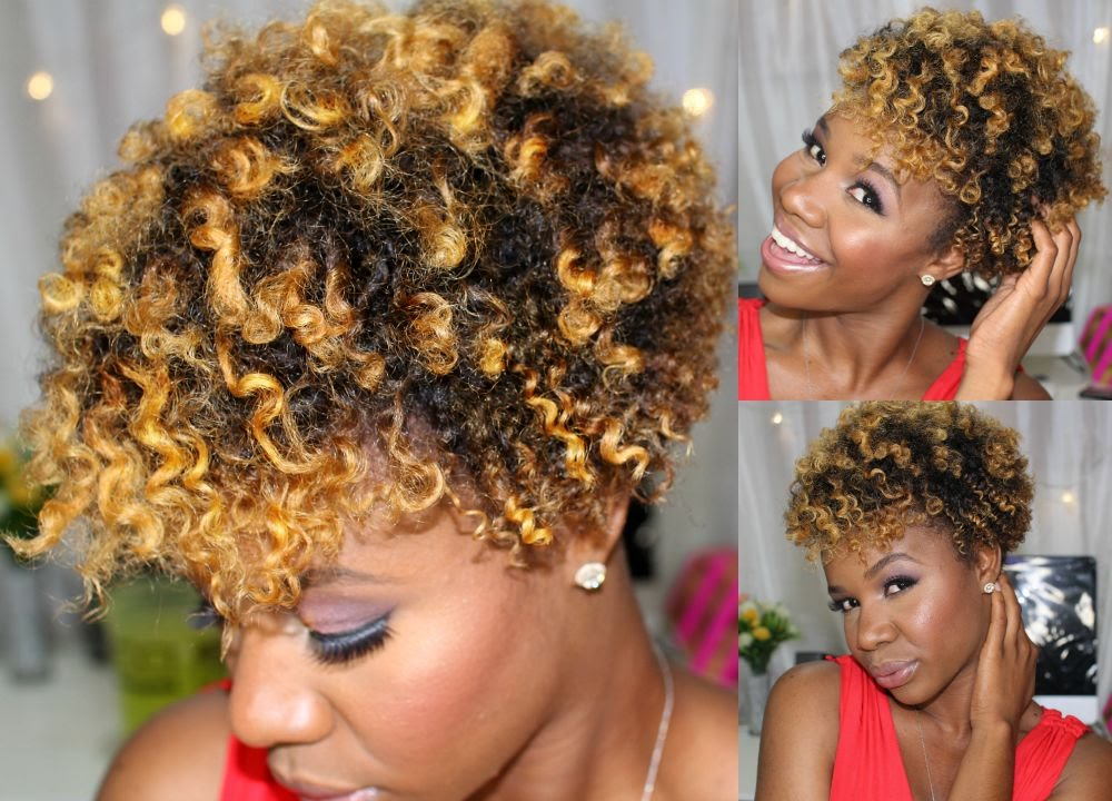 Defined Flat Twist Out On Short Natural Hair