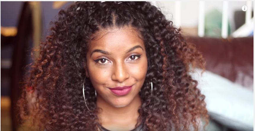 Cornrow Braid Natural Hair Defined Curls