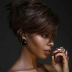 edgy short haircut for black women