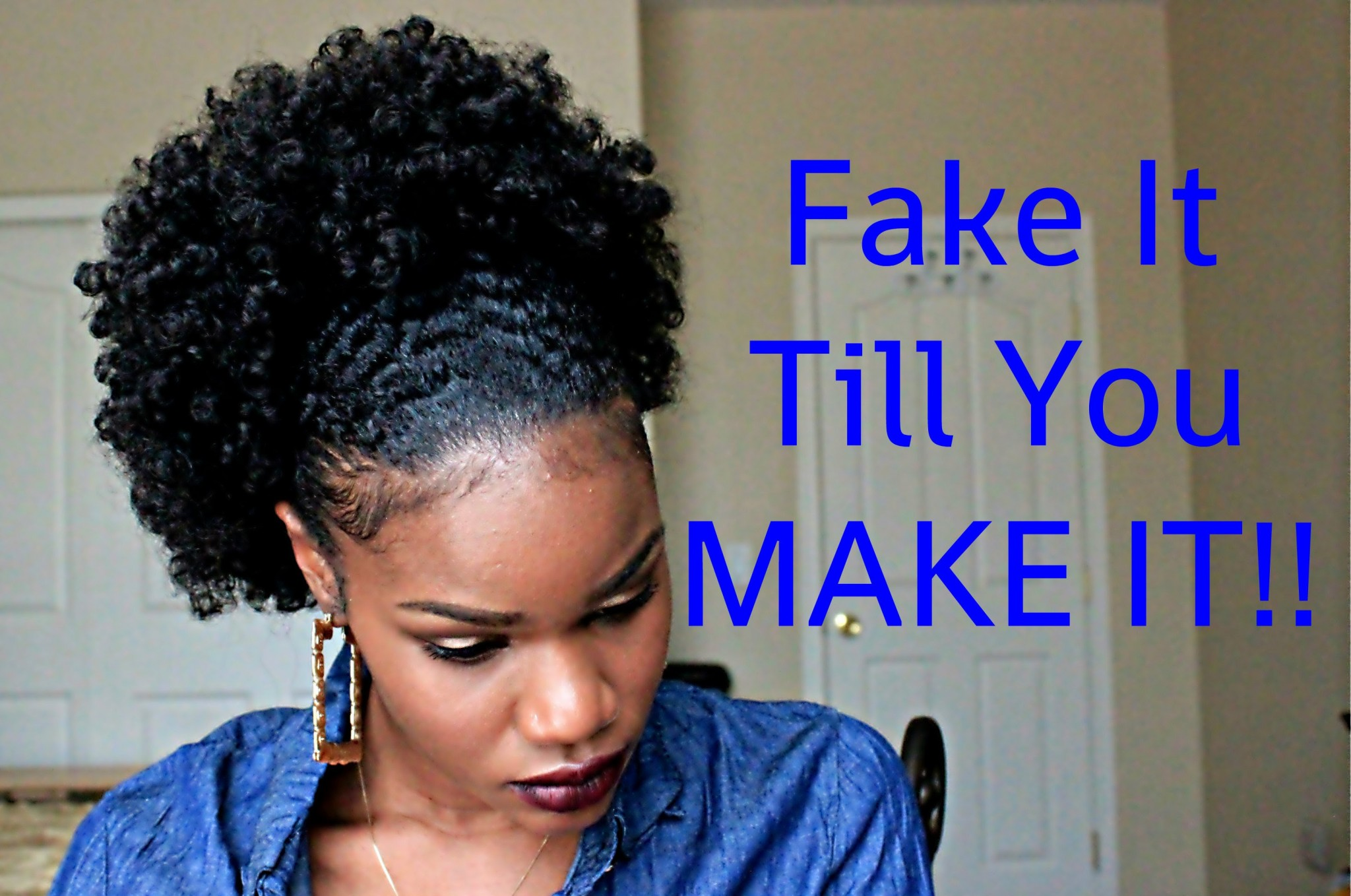 How You Can Get A Flawless And Super Cute Ponytail With TWA Using A Large Afro Puff. And It's ...