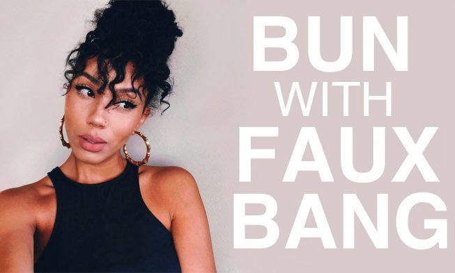 This Stylish Bun With Faux Bangs Looks Great But It S So Much More