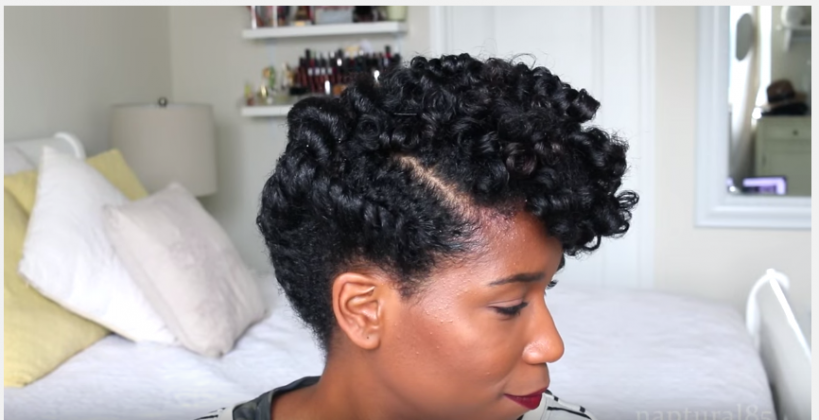 Faux Tapered Cut Natural Hair Updo