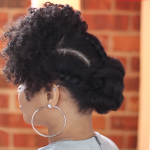 knot natural hairstyle