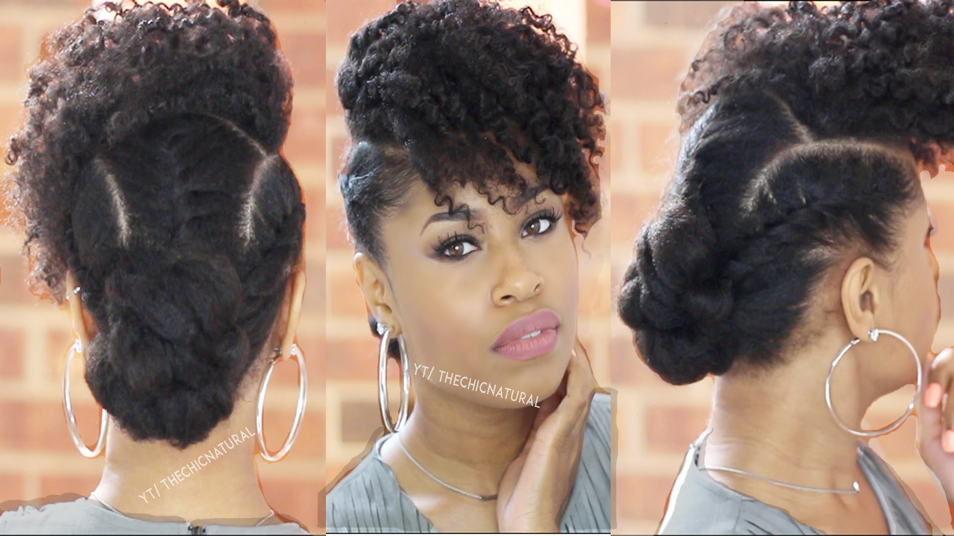 Step-by-Step Guide To Bang 'N Twisted Knot Hairstyle