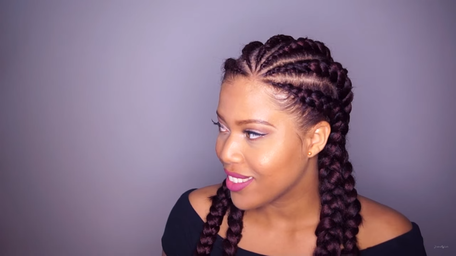 Don T Know What To Do With Your Hair Check Out This Trendy Ghana Braided Hairstyle Black