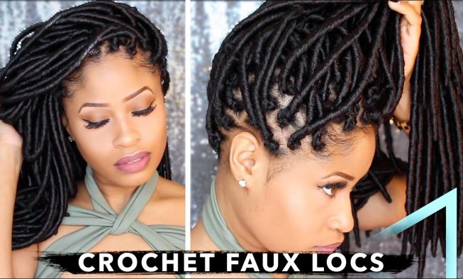 How To Crochet Individual Faux Locs With No Cornrows No Wrapping