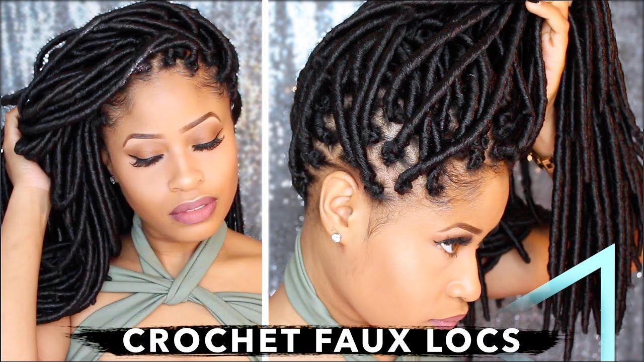 How To Crochet Individual Faux Locs With No Cornrows Amp No