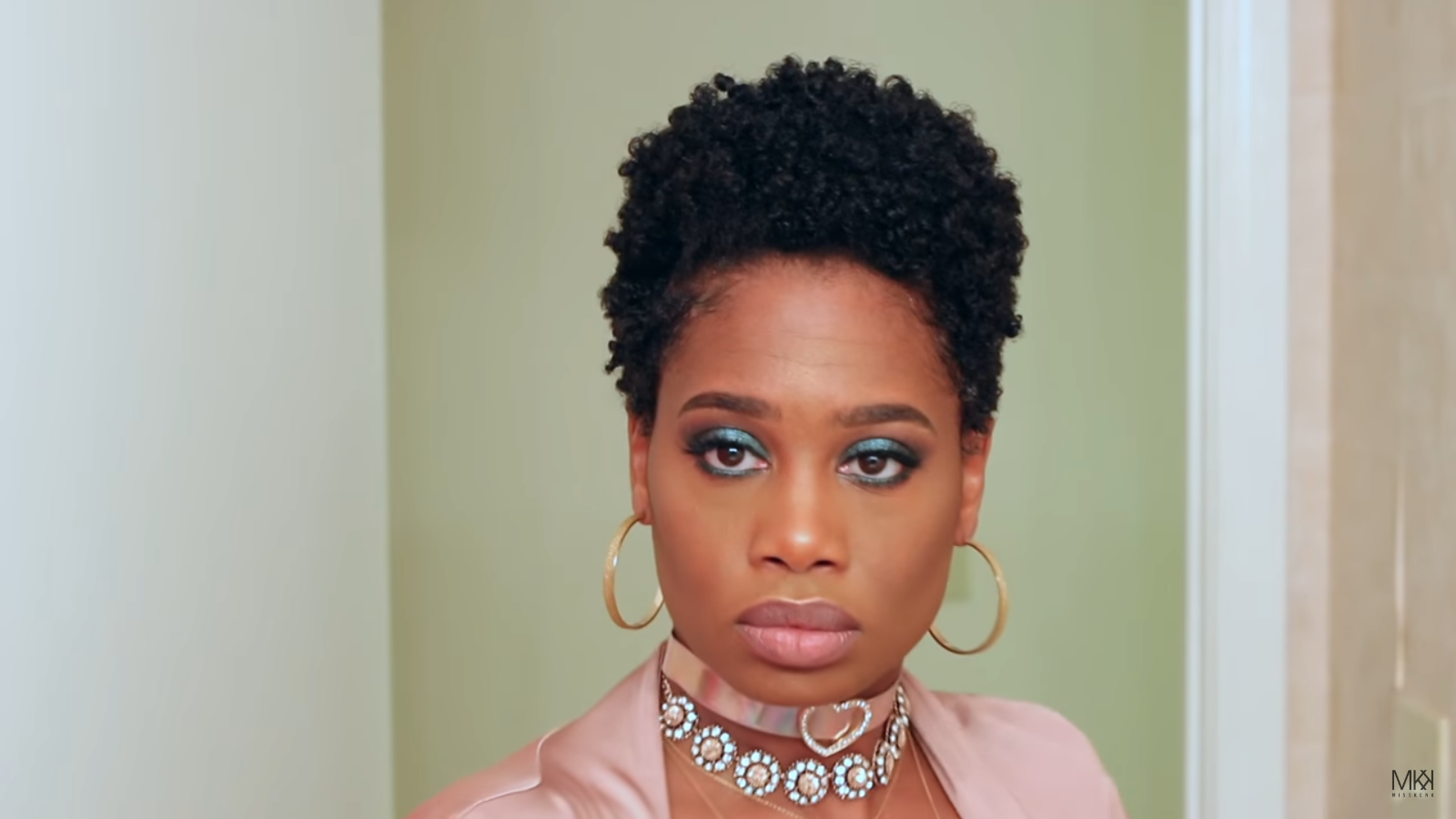 Defined Bantu Knot Out On Tapered Natural Hair