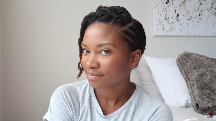 natural hair flat twist