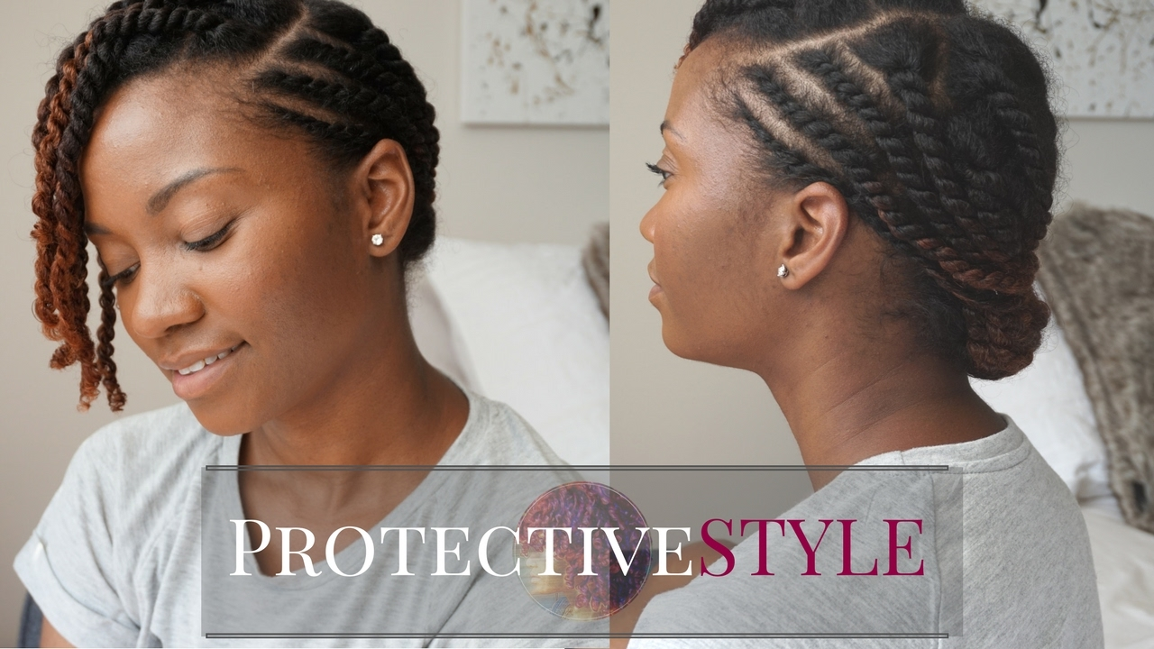 Yet Another Cute Flat Twist Protective Style For Natural