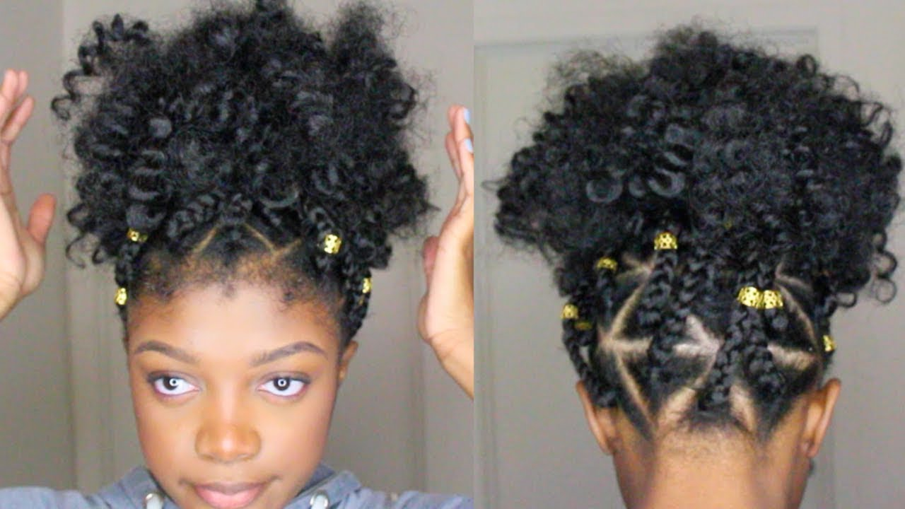 Watch As She Creates A Triangle Box Braid Faux Puff Ball The Result Speaks For Itself Black Women S Natural Hair Styles H V