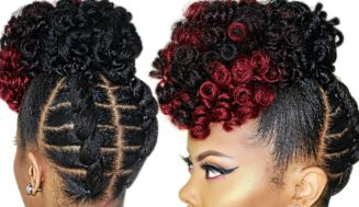 This Braid-less Crochet High Puff On 4c Natural Hair Might Just Turn Out To Be Your Favorite Also