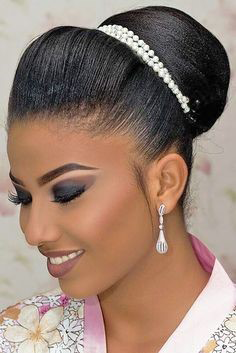 African-American Sleek Accessorized Bun