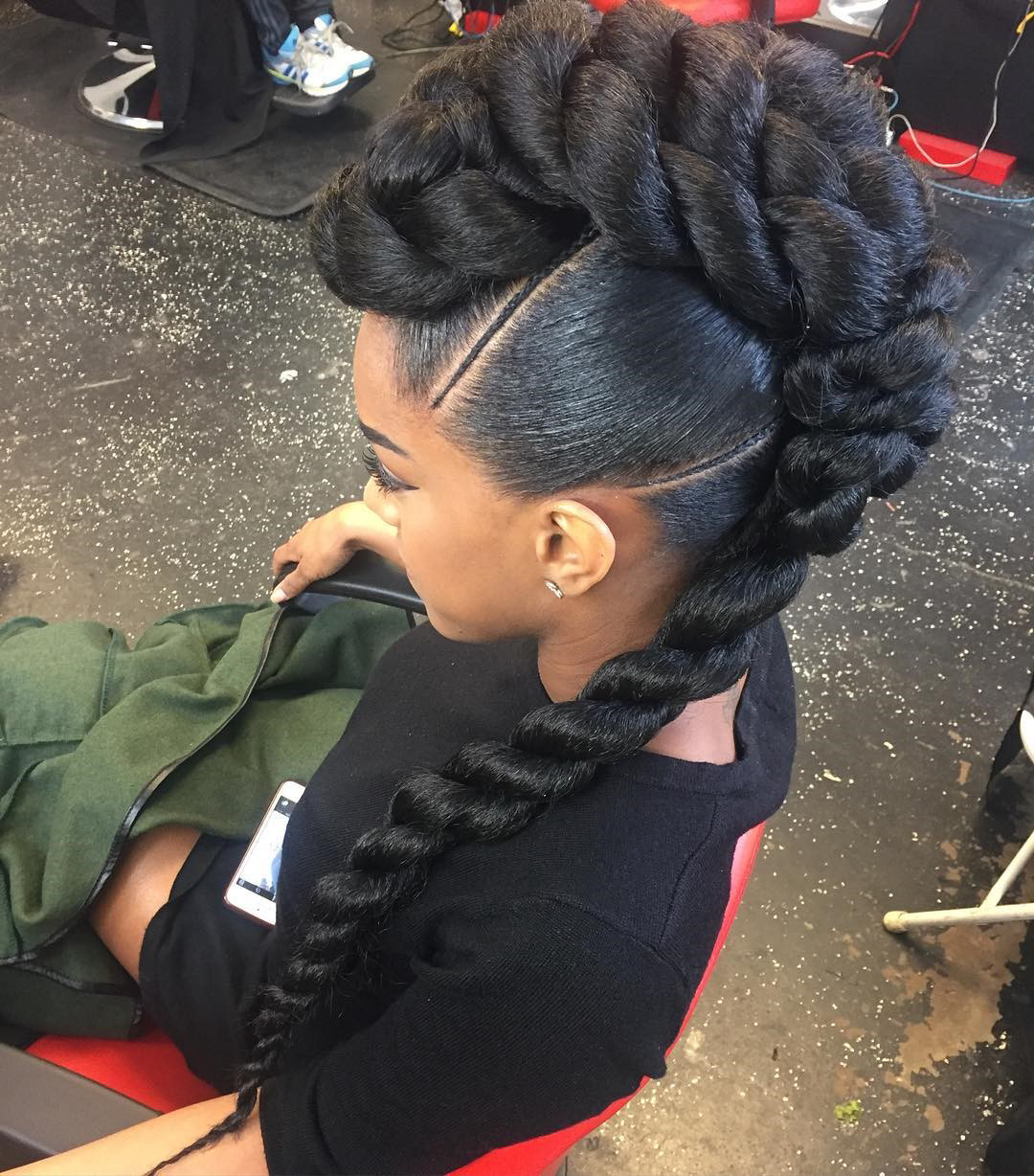 Long Twisted Braid for African-American Braid