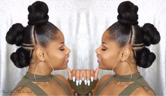 This New Triple Knot Braided Up-do For Black Hair Is So Edgy, It'll Inspire You