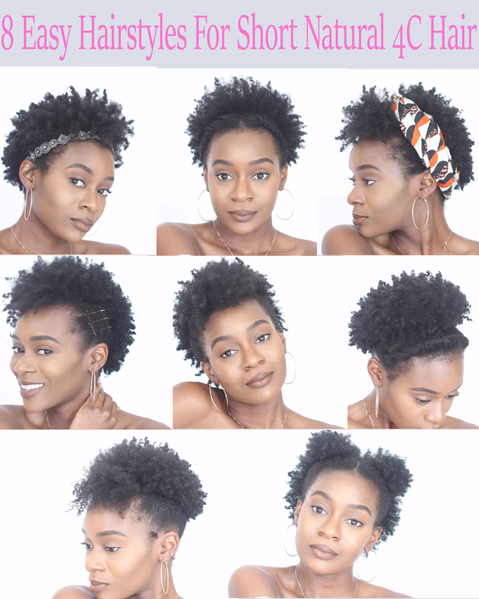 8 Easy Protective Hairstyles For Short Natural 4c Hair