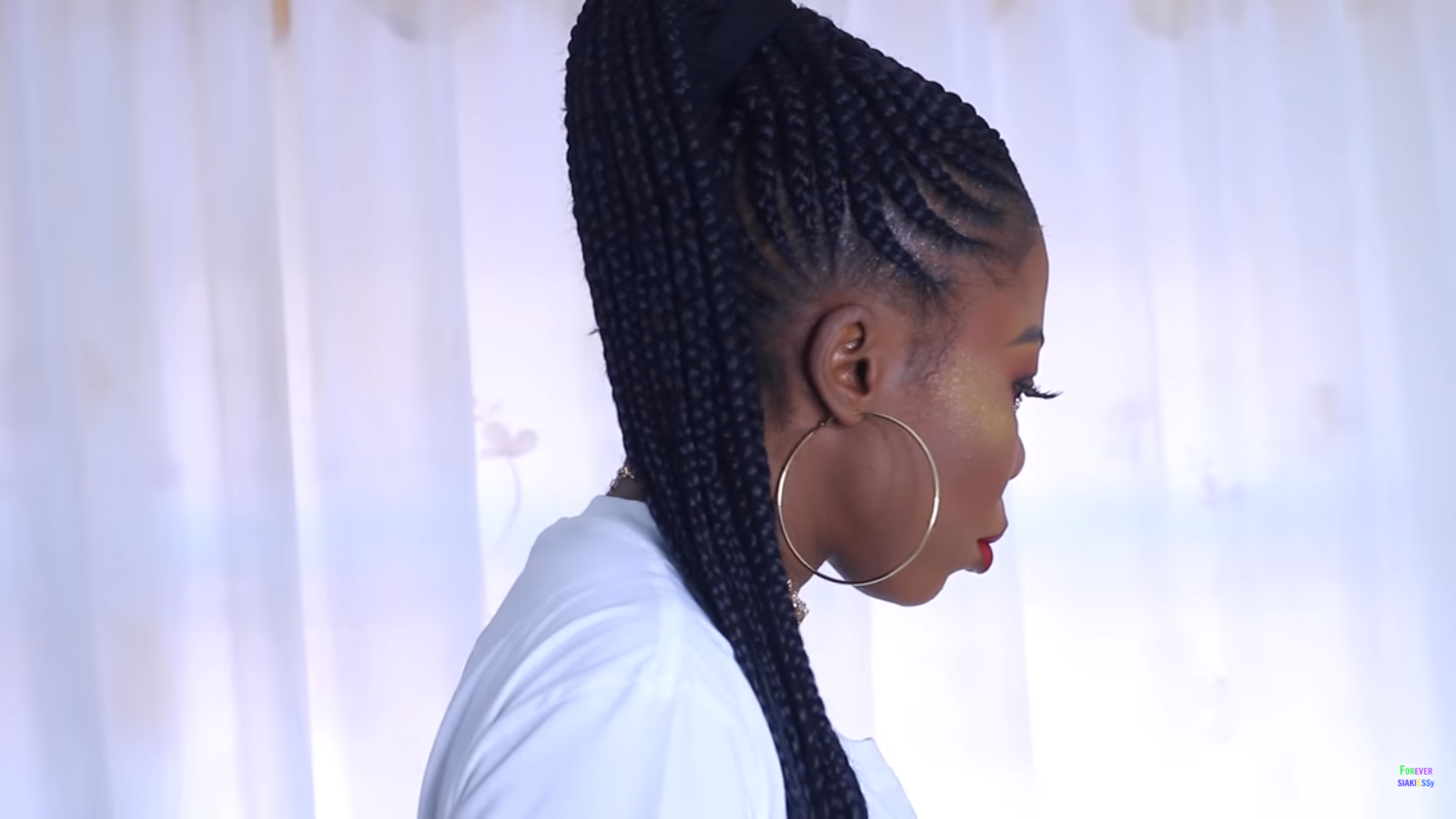 braided ponytails for black hair