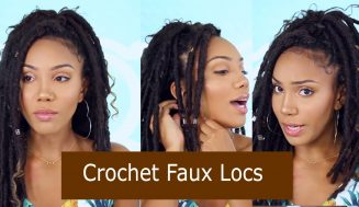 Installing Long Faux Locs On Natural Curly Hair Using Crochet