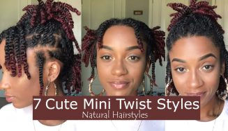 Looking For New Ways To Style Your Mini Twists? Try These 7 Easy Styles