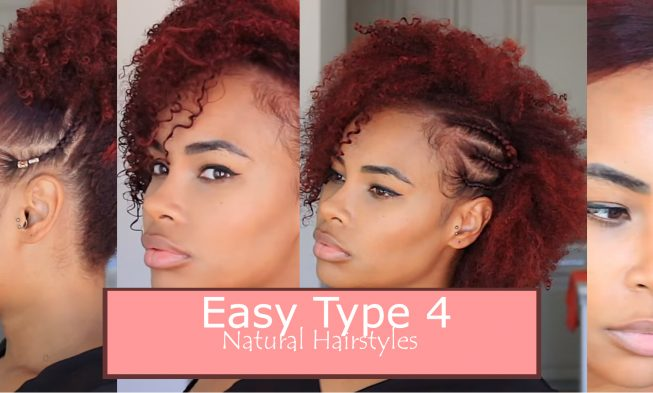 Running Late? Here Are 4 Easy Hairstyles For Type 4 Natural Hair ...