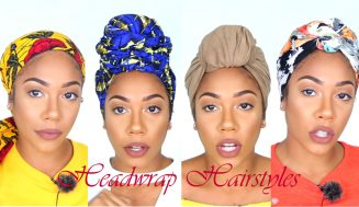 4 Great Natural Headwrap Styles For Short & Long Hair