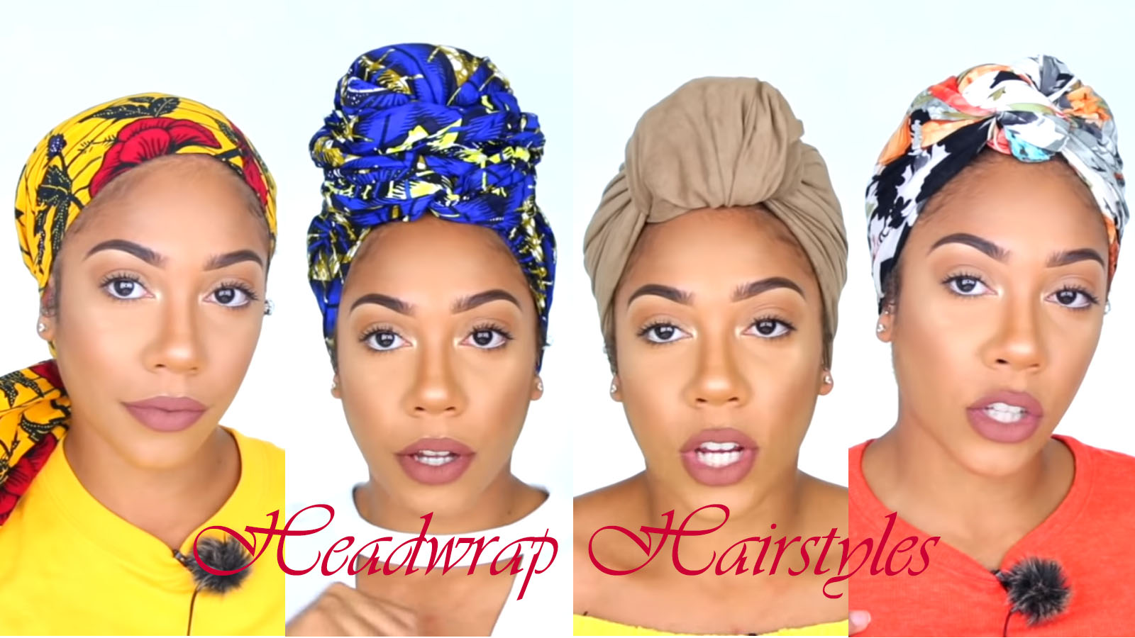 4 Great Natural Headwrap Styles For Short Long Hair African American Hairstyle Videos Aahv