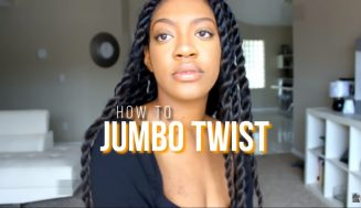 How To Whip Up The Most Fashionable Protective Style Using Jumbo Twist In Under 2 Hours!!