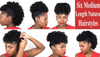 Six Fabulous Hairstyles For Medium Length Natural Hair – Great For All Occasion