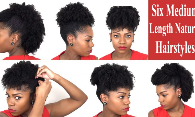 Six Fabulous Hairstyles For Medium Length Natural Hair