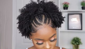TRENDY Hairstyle For Short Natural Hair | Stretched Finger Coil On 4c/b Natural Hair