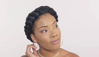 Create Dazzling Looking Natural Hairstyle Using Halo Braids For Beginners