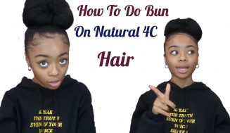 Super Easy And Sleek Bun On Thick Natural 4C Hair