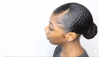 How She Creates A Sleek Low Bun For Type 4 Curly Natural Hair
