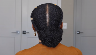 Low Bun on Short 4C Natural Hair Tutorial