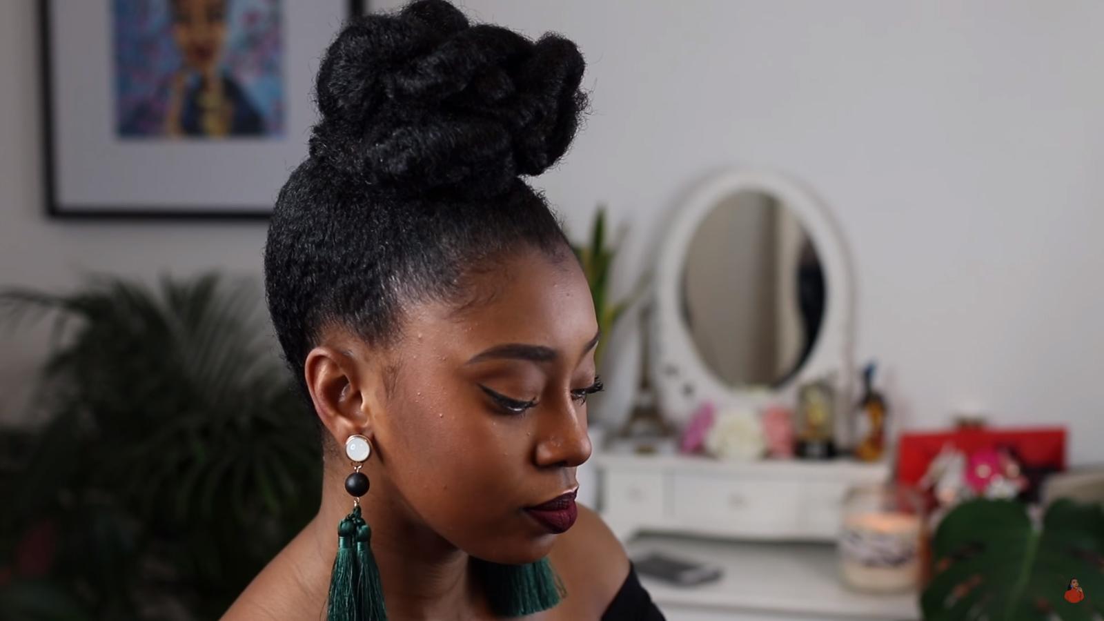 Natural Bun Hairstyles