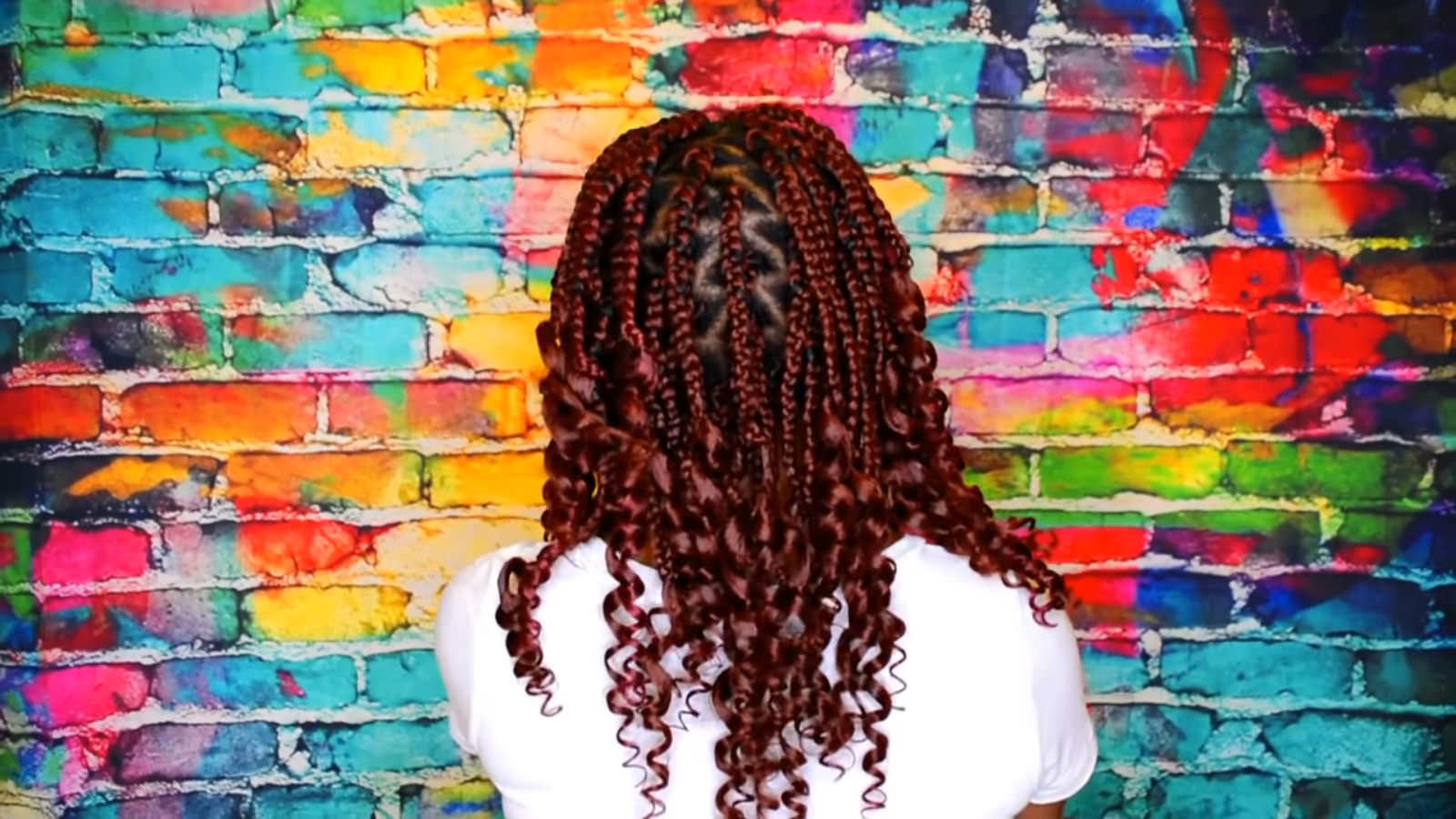 curly ends box braids